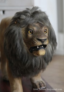 antique toy lion